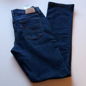 Womens Levi's 505 Straight Size 6 Blue Jeans
